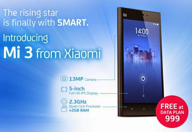 Xiaomi Mi 3 Now Up For Pre-Order at Smart Postpaid