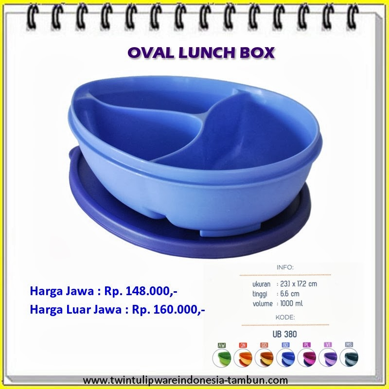 oval lunch box tulipware 2013