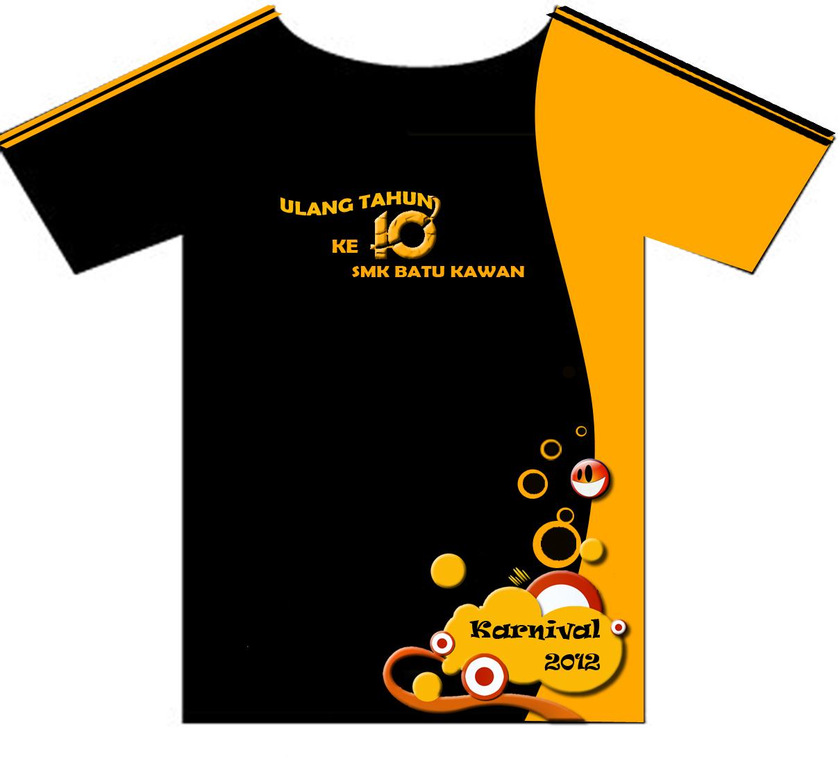 Design t shirt rumah sukan - Sempena Ulang Tahun Ke 10 Smkbk