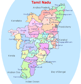Tamilnadu TN District Map