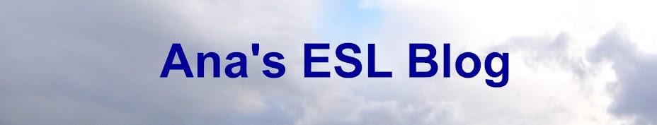 Ana's ESL blog