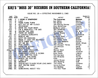 KHJ Boss 30 No. 18 - November 3, 1965