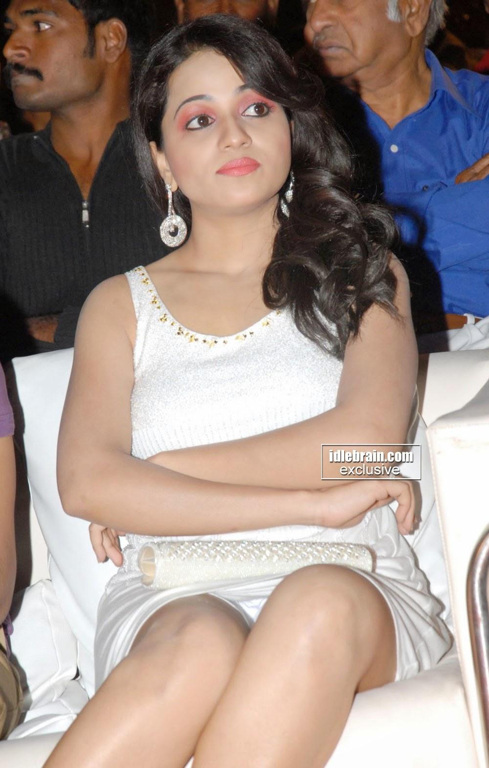 Reshma in White Sleeveless Dress