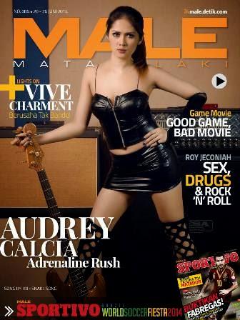 Majalah MALE Mata Lelaki Edisi 86 Cover Model Audrey Calcia | MALE Mata Lelaki 86 Indonesia