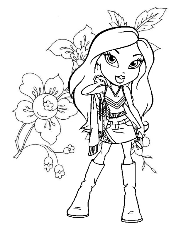 flower and bratz coloring pages >> Disney Coloring Pages