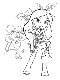 bratz coloring pages, cartoon coloring pages