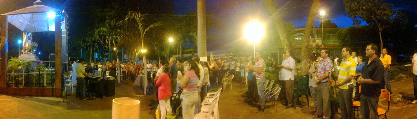 Catolicos de Comuneros-Cúcuta celebran fiesta de la Virgen del Carmen 2014 Foto: Félix Contreras, presidente de la ONG ATALAYA ECOTURISTICA OngAE 16Jul2014