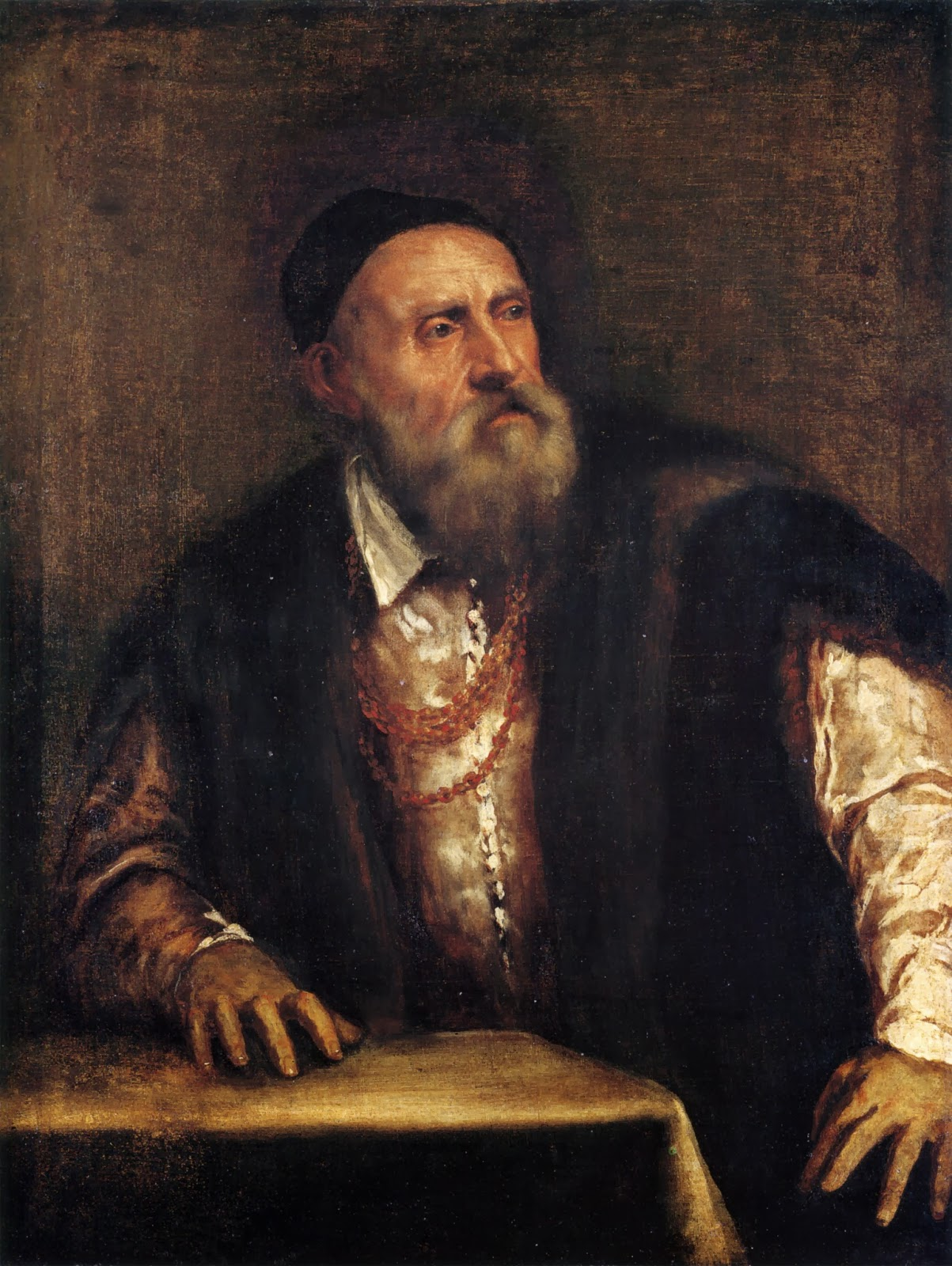 "Picture of Painting ""Self Portrait"" by Titian, 1562"