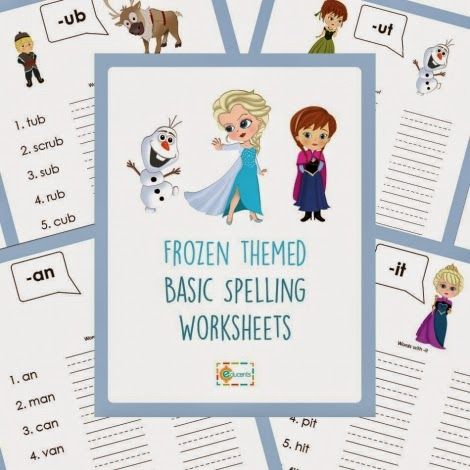Free Frozen Spelling Worksheets