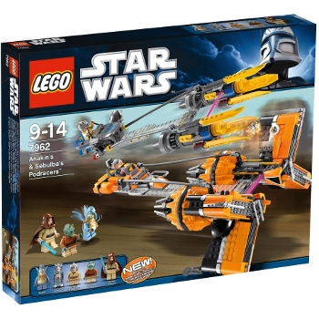 Image du set Lego Star Wars 7962  Anakin's & Sebulba's Podracers