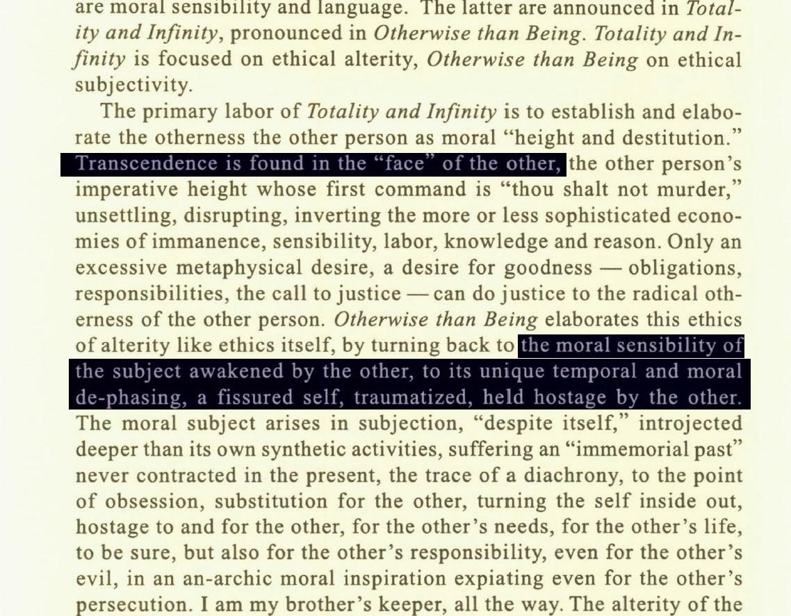 essay exteriority infinity totality