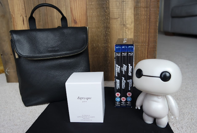 Birthday Presents - Whistles Leather bag, Diptique Candle & Baymax