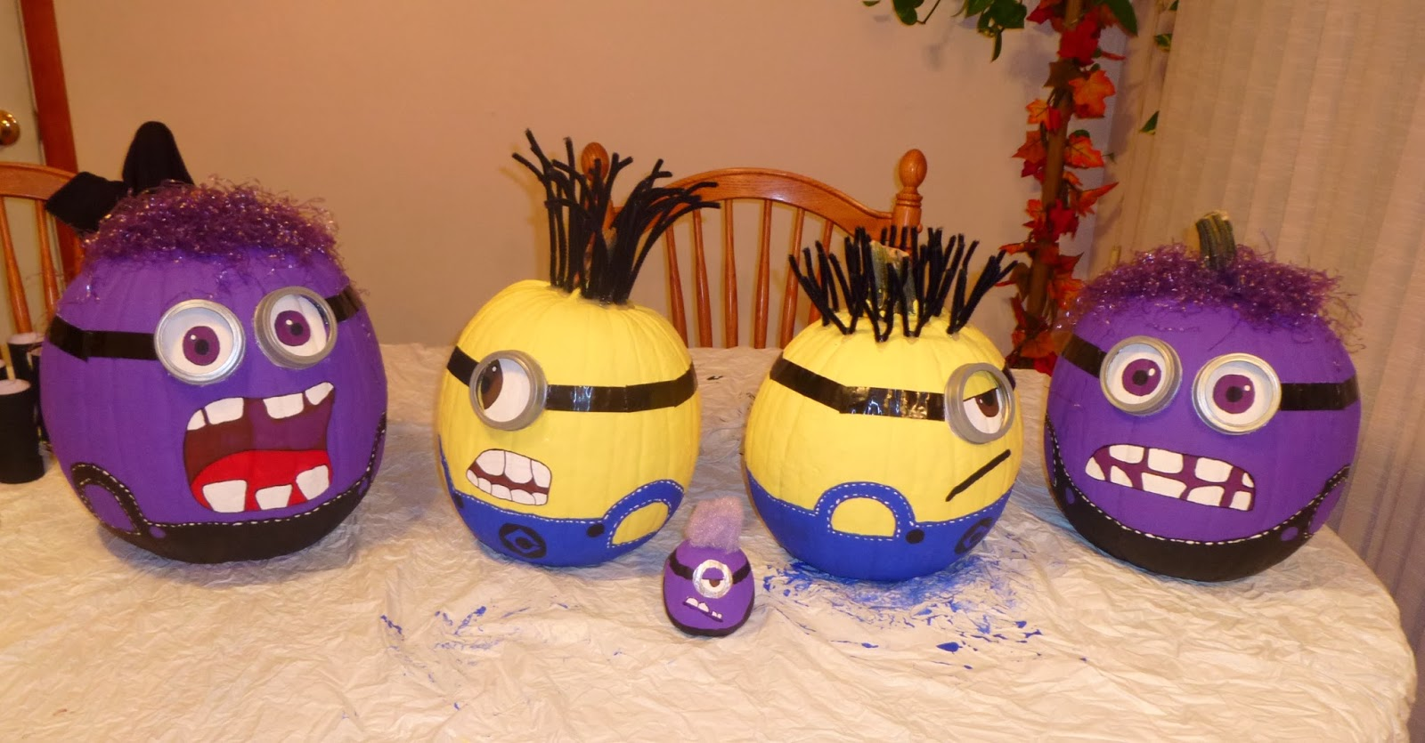 Painted Minion Pumpkins The Beach Bird Boutique Blogs How To Despicable Me 2 Minion