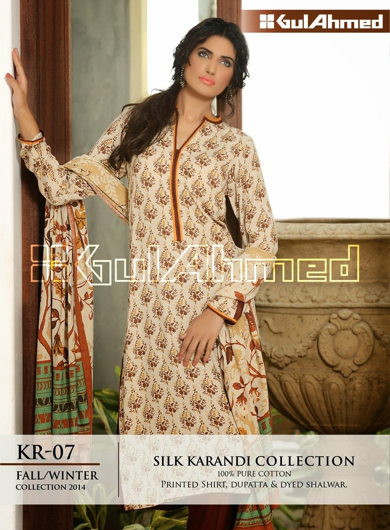 GulAhmed Fall/Winter 2014 Silk Karandi Collection - KR-07