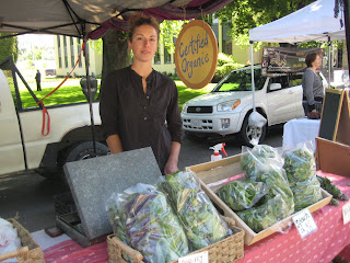 Organic Vegetable for sale at the Penticton Farmer's Market