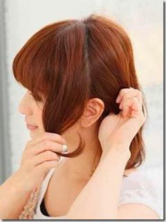 Tutorial Cara Mengikat Rambut Pendek Gelombang Artis Jepang