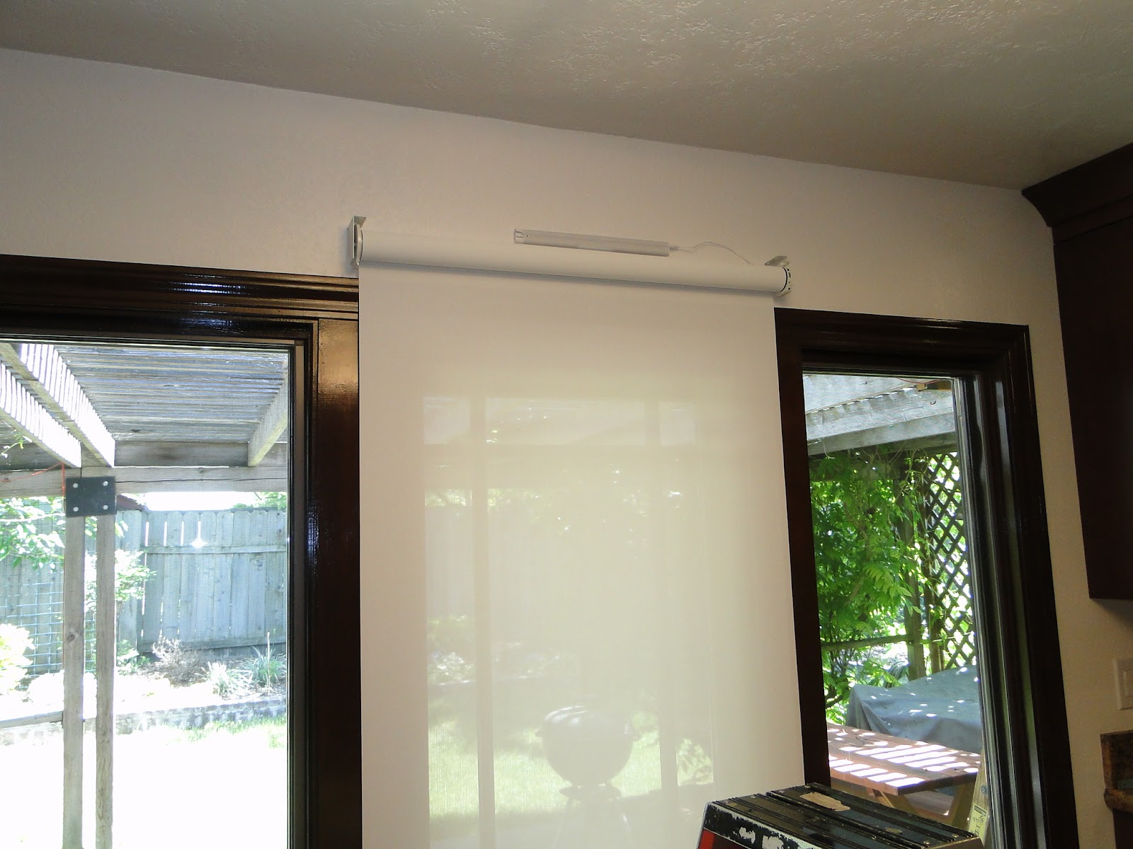 French door blinds blackout 100 perfect fit blinds for for Roller screens for french doors