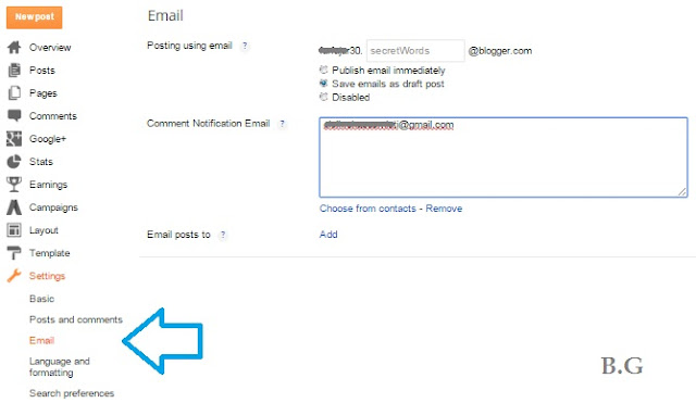 Trik Update Postingan Lewat Email