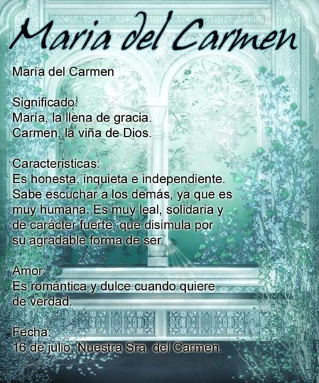 Significado de María del Carmen