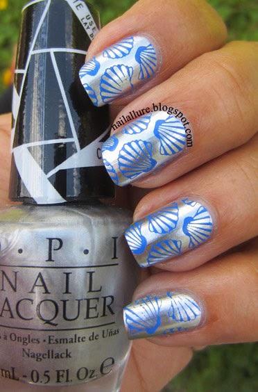 Blue Seashells on Chrome