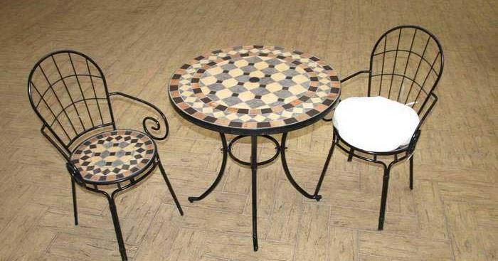Muebles de forja mesas y sillas terraza en forja y cer mica for Mesas y sillas de forja