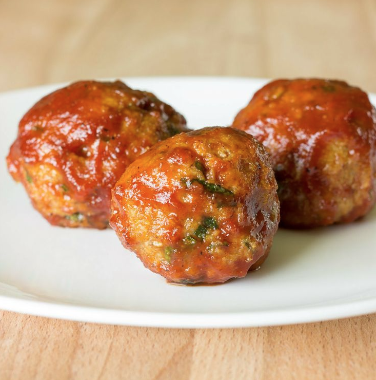 Honey Barbeque Chicken Meatballs Recipe