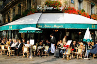 Restaurant Les Deux Magots, Paris.