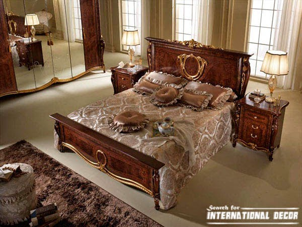 Italian charms bedrooms in classic style for Italian bedroom furniture