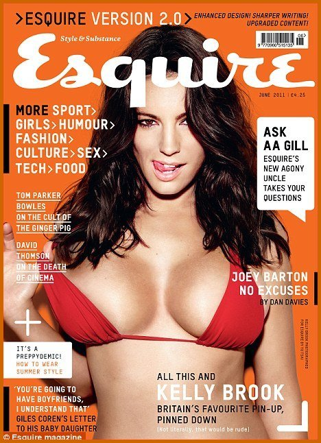 Kelly Brook Strips Down For Esquire Magazine hot photos