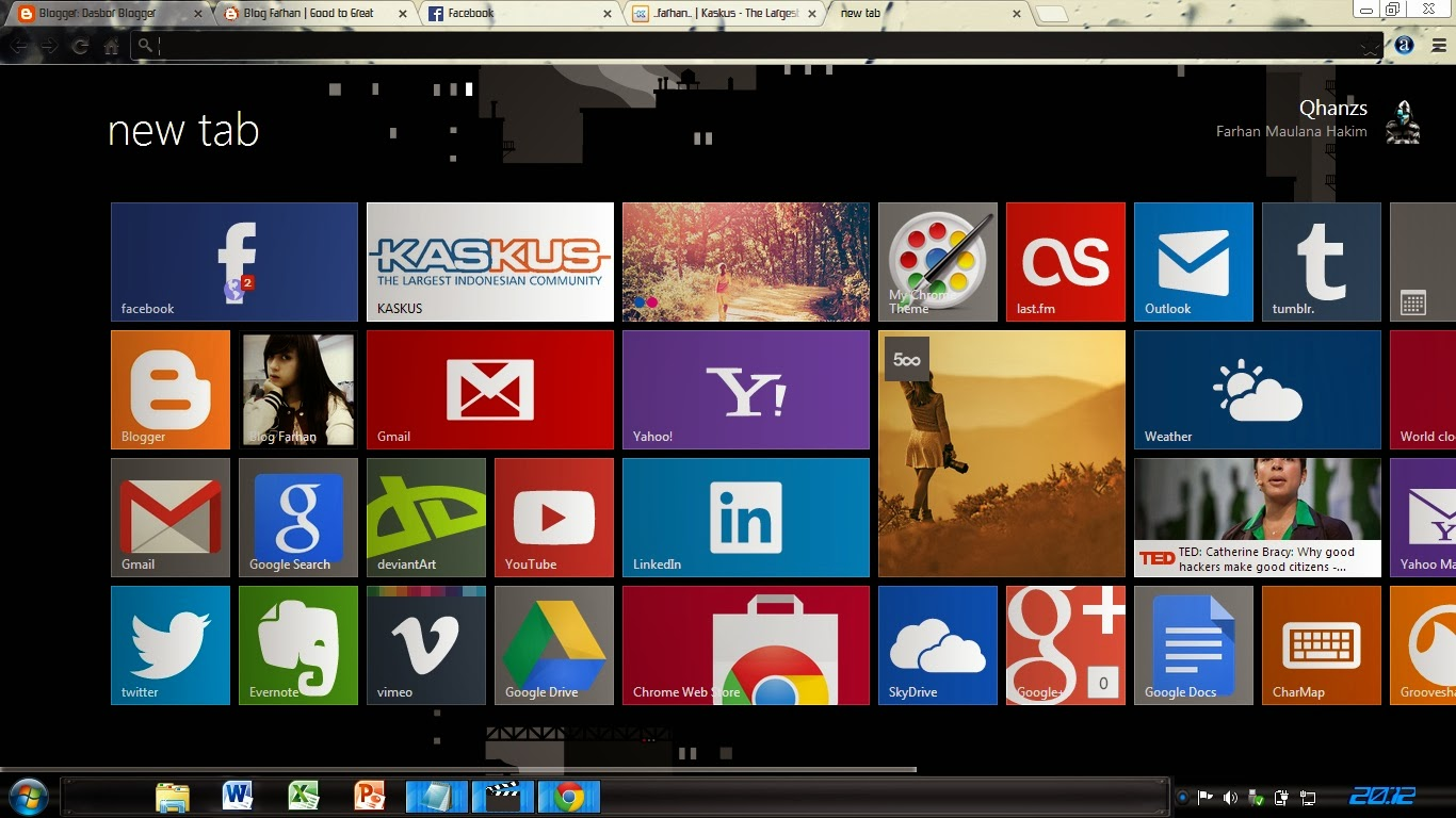 Membuat Google Chrome Menjadi Metro Windows 8