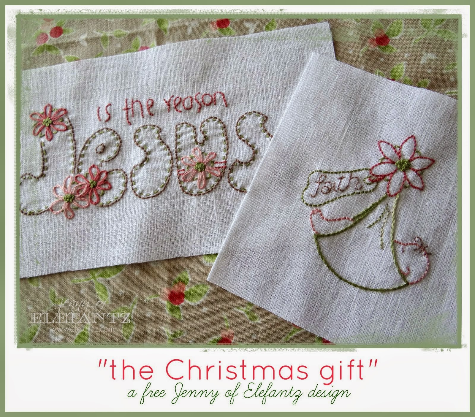 Free Christmas Stitcheries