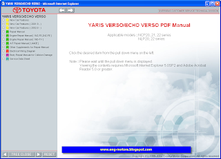 Toyota Yaris Verso repair manual