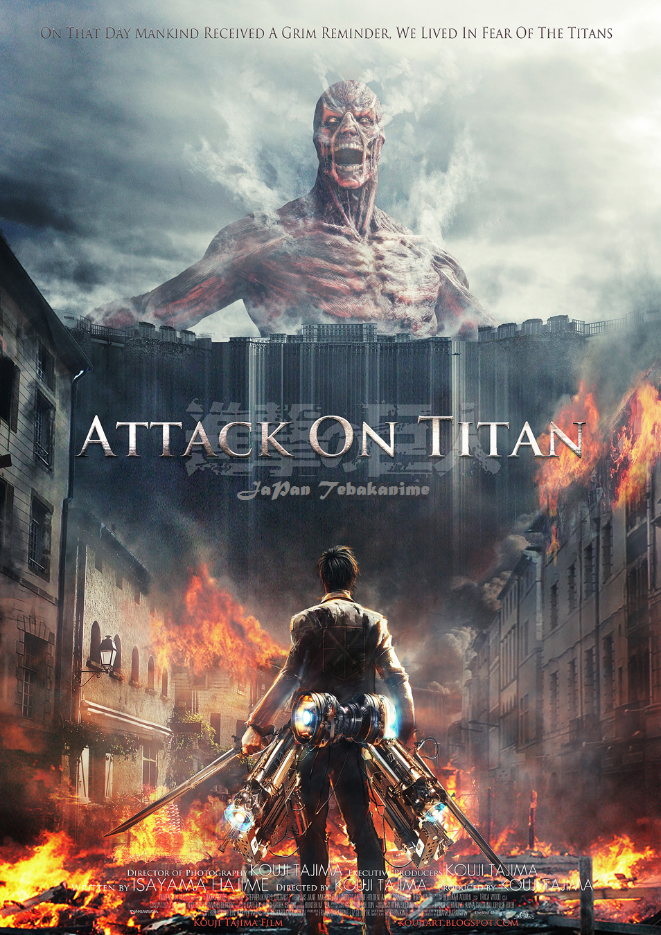Download Film Shingeki no kyojin Attack on Titan (2015) Leaked HC DVDSCR