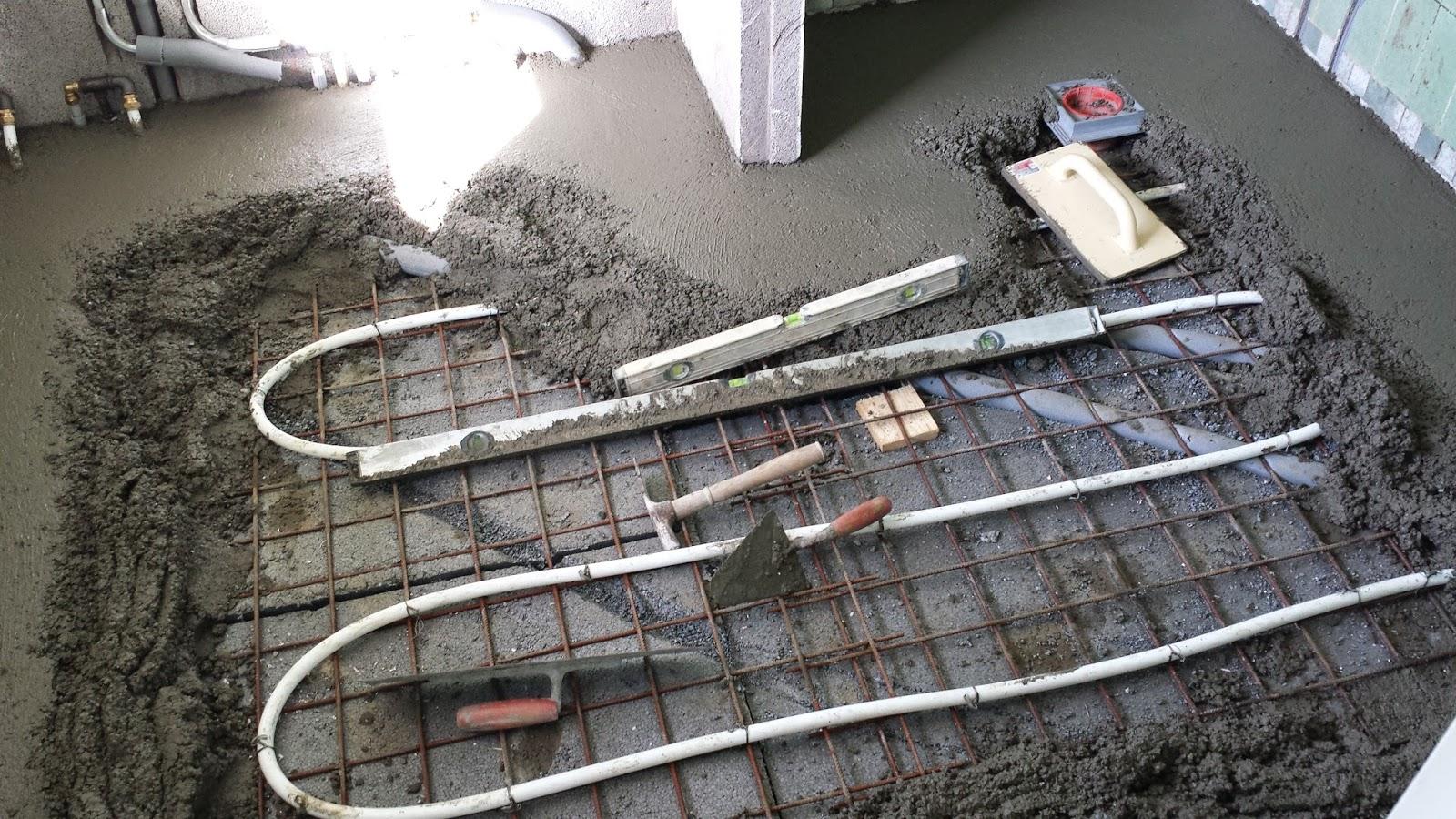 #535F78 Meget bedømt Renovering Af Badeværelse Med Fokus På Energibesparelser: Støbning Af Gulv Gør Det Selv Værksted Med Lift 6389 16009006389