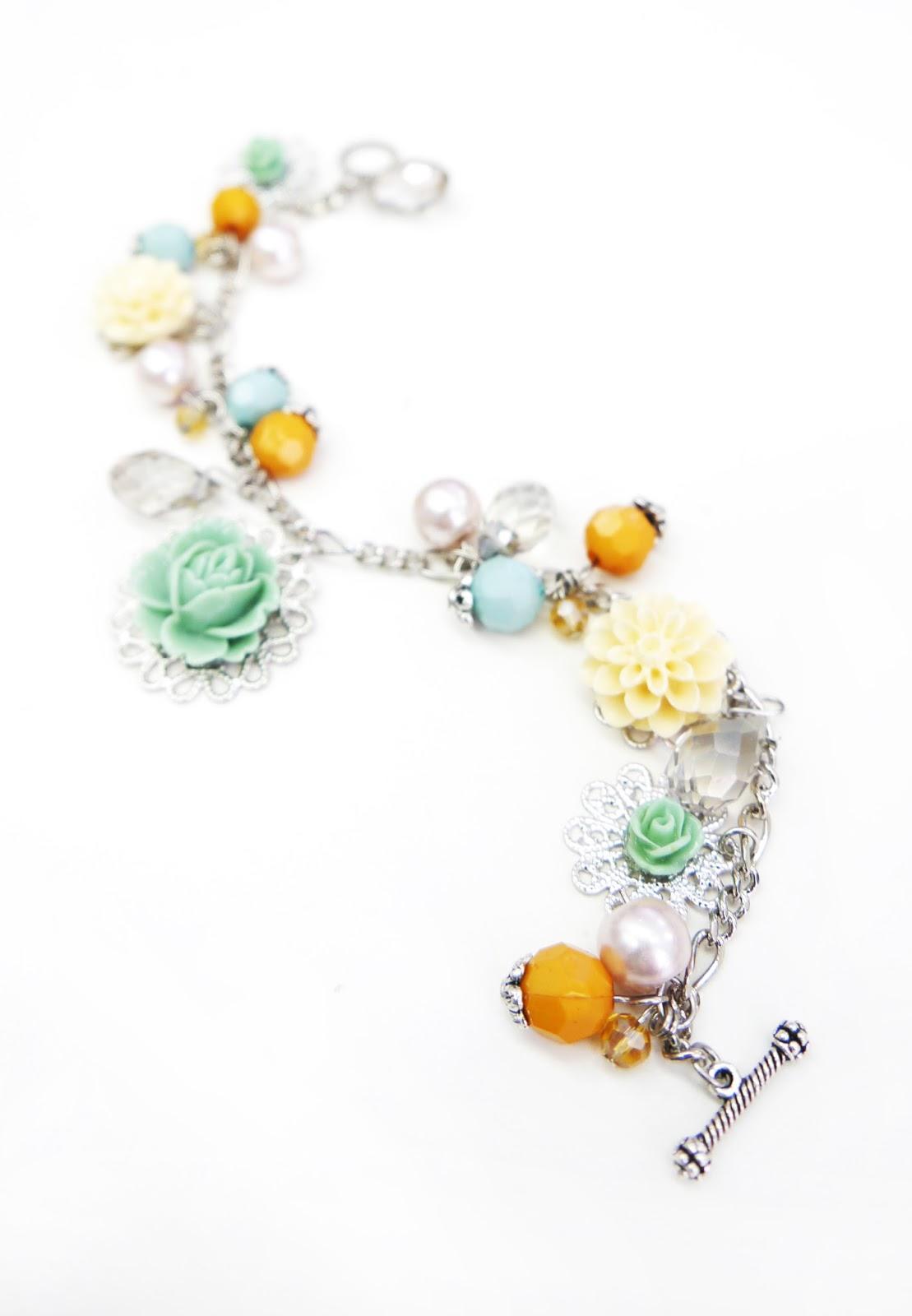 Garden Charm Bracelet Code B558 Secret Garden Charm