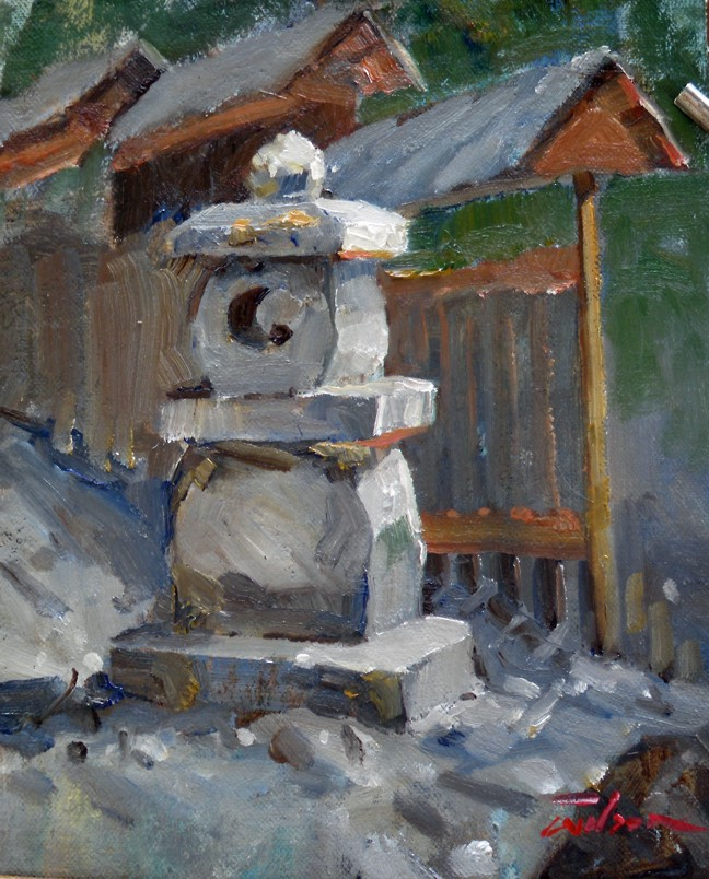 Artist Ron Wilson Canada Japanese Lantern 8 X 10 Oil On Canvas Baltic Ply