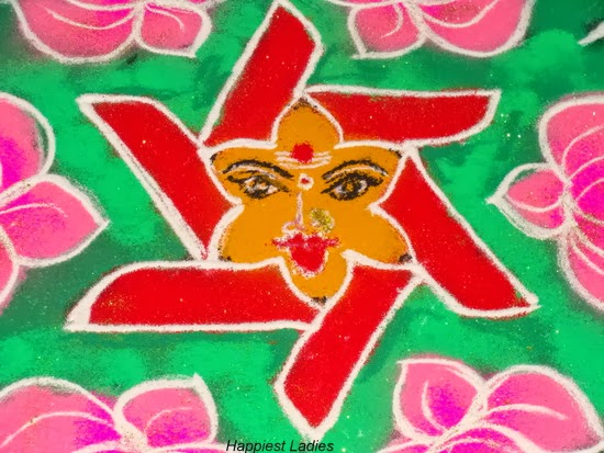 Goddess Rangoli Design