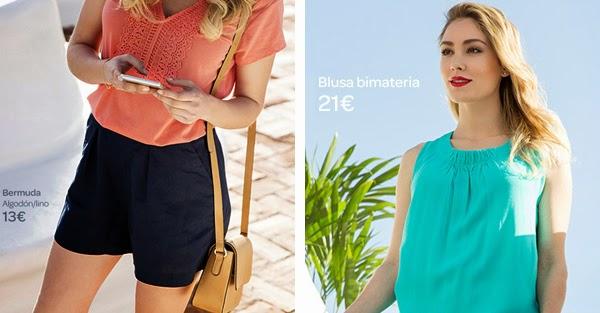 Carrefour Tex ropa primavera verano blusa bermudas