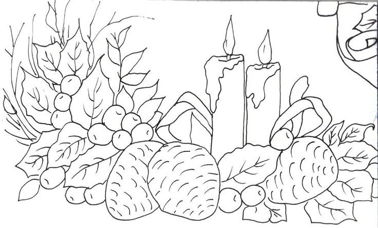 imagens para colorir de velas de natal - Desenhos de Velas de Natal para colorir jogos de pintar e