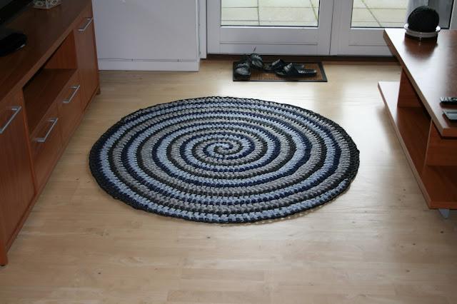 Zpaghetti gulvtæppe DIY Spiral