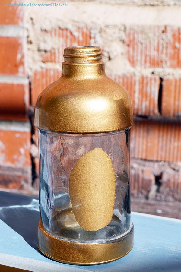 Tutorial oxidando una botella de cristal handbox craft - Pintura color oro ...