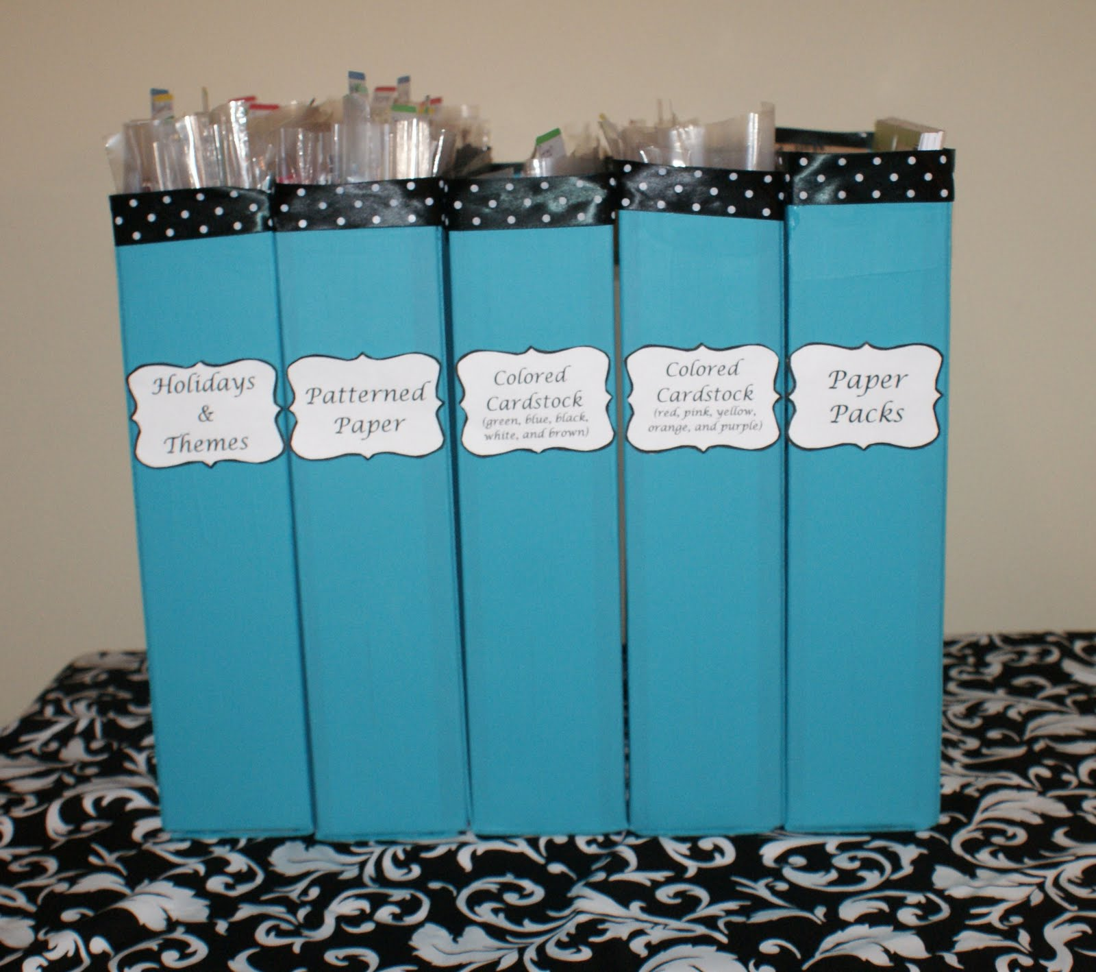 How to store scrapbook paper - This Storage System Was Under 10 Dollars To Create