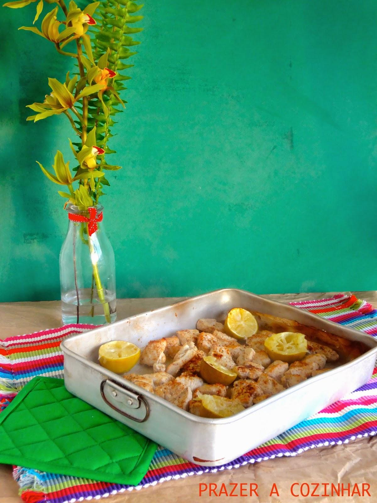 prazer a cozinhar - Frango picante com lima