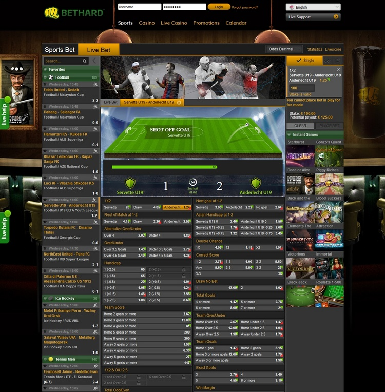 Bethard Live Betting Offers