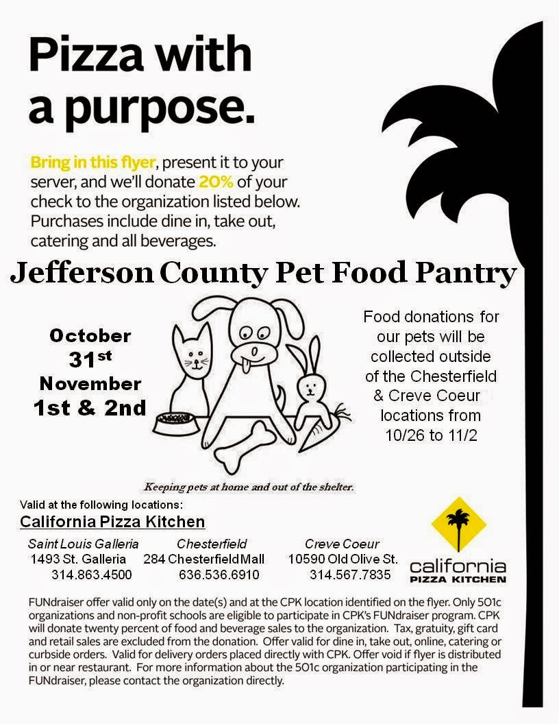 Jefferson County Pet Food Pantry : California Pizza Kitchen ...