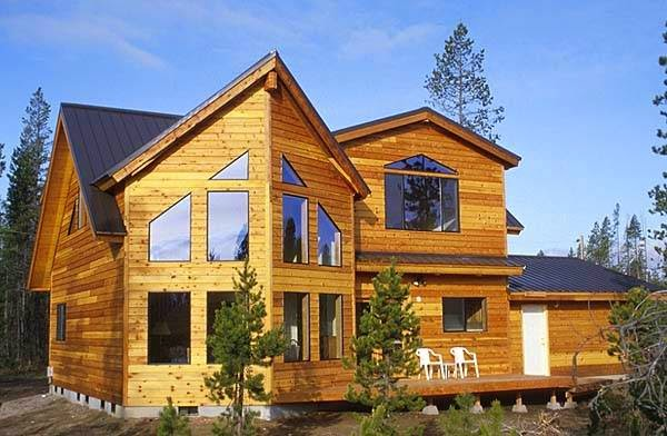 Contemporary Wooden House Style