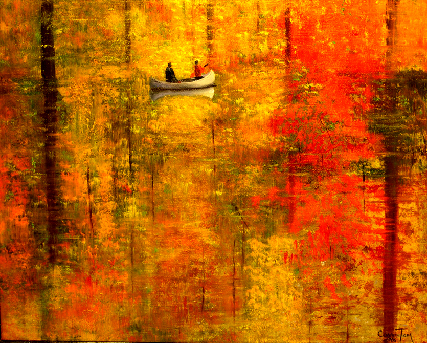A painting for you reflections of autumn v 20 x16 a for Autumn tree painting