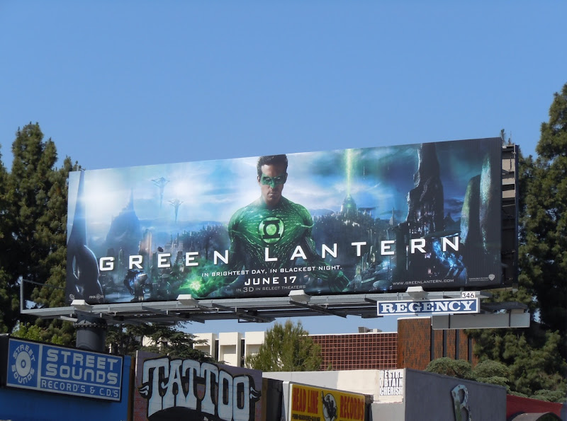Hal Jordan Green Lantern billboard