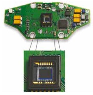 חיישן CCD על מעגל מודפס (PCB)