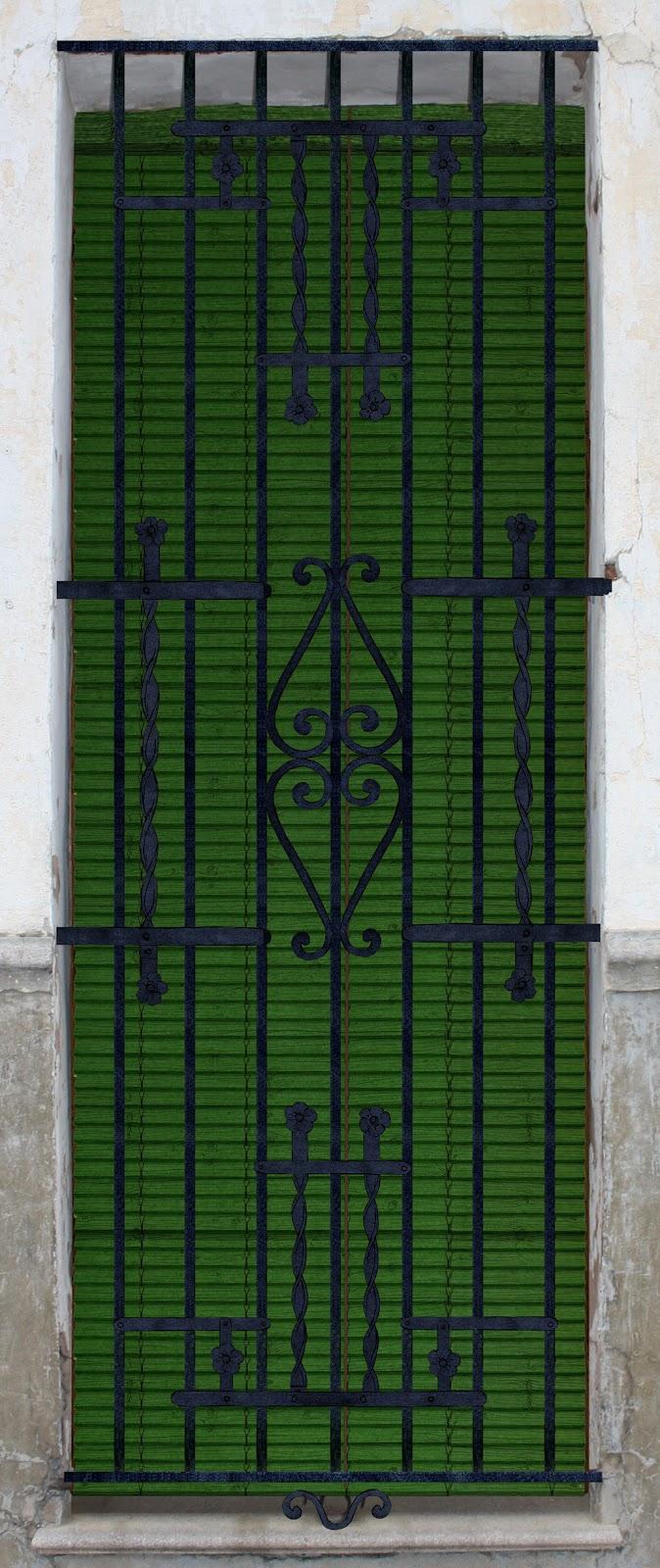 ventana, reja,  persiana